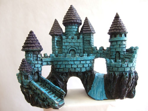 15 best images about fish tank ss13 on pinterest for Fish tank castle decorations