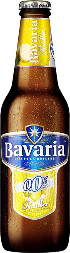 Bavaria 0.0% Radler is een verfrissende mix van 0.0% bier en limonade met een vleugje citroen. Dankzij de smaak van frisse citrusvruchten is 0.0% Radler een heerlijke dorstlesser met een licht zoetzure afdronk. Licht, fris en gebalanceerd zoet met de graansmaak (mout, hop) van het pilsener. Aroma met een duidelijke neus van citrusfruit en pilsener. De smaak is die van citroenlimonade met een lichte biersmaak. Fruitig, fris en met net dat tikje body van het pilsener.