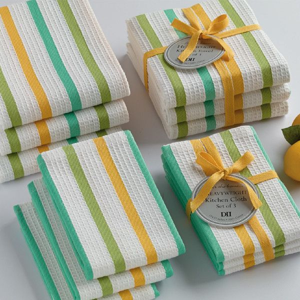 Lemonade Heavyweight Dishcloths // Summer Kitchen // www.designimports.com