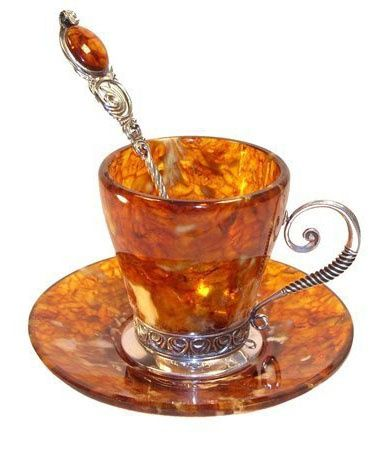 Tea Cups Made Of Natural Amber