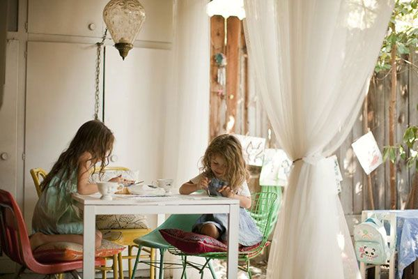 The relaxed beauty of this home with children is inspiring me to decorate with what we love and use.