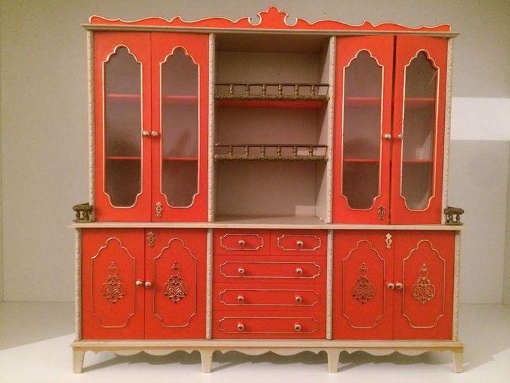 Vintage Barbie Milady Furniture Kitchen Cupboard Cabinet