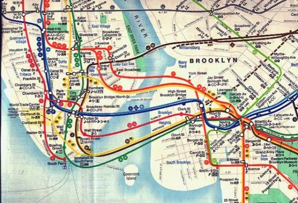 Evolution of the NYC subway map