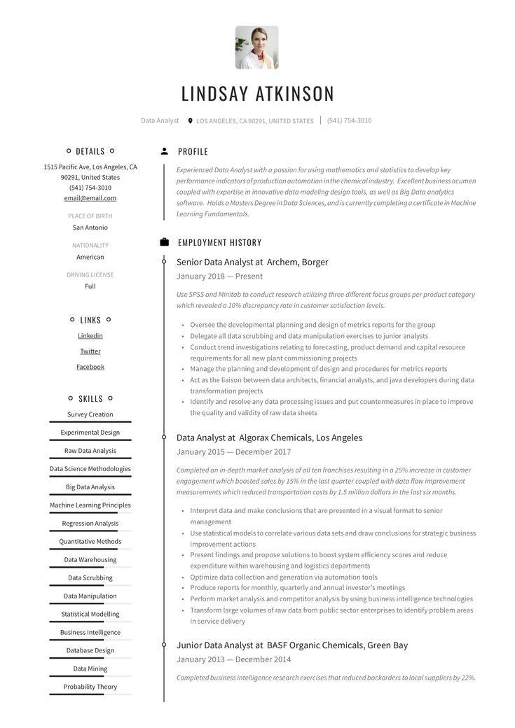 Data analyst resume example in 2020 resume guide resume