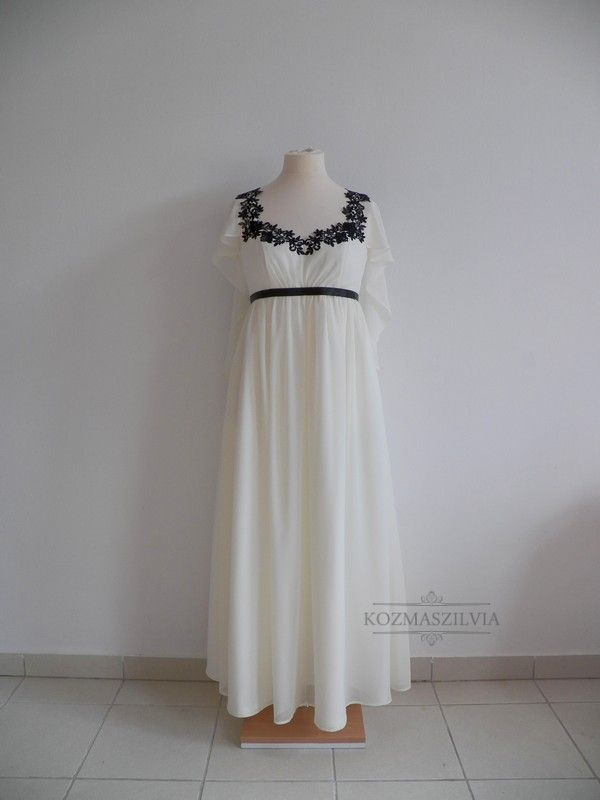Wedding dress, black and white