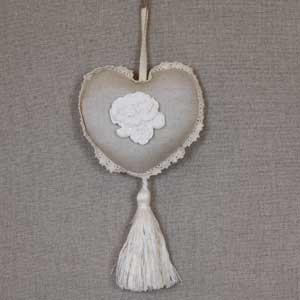 Coeur parfumé déco charme - coeur déco à suspendre - coeur parfumé déco romantique