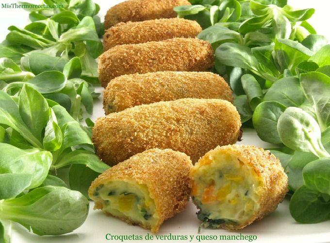 Croquetas de verduras y queso manchego - MisThermorecetas.com