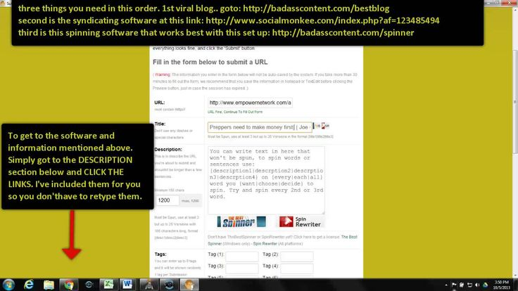 How To Syndicate a Blog With a solid tool and The Best Spinner software Check the links in the description if you want this tool.. it's helped me rank vids. http://badasscontent.com/StayathomeMakeMillions
