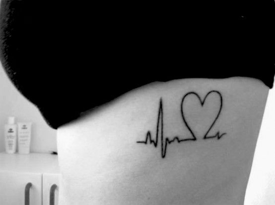 .Heartbeat Tattoos, Beats, Tattoo Ideas, Ribs, Faith, A Tattoo, Nursing Tattoos, Heart Tattoos, White Ink
