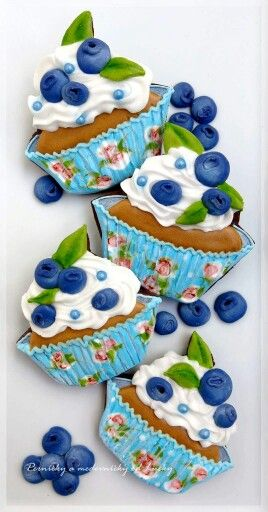 Blueberry Cupcake Cookies