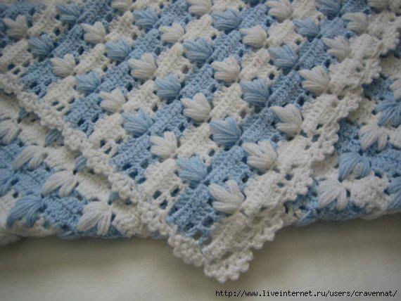 Manta de croche maravilhosa - by Claudia Dias - crochê para bebé