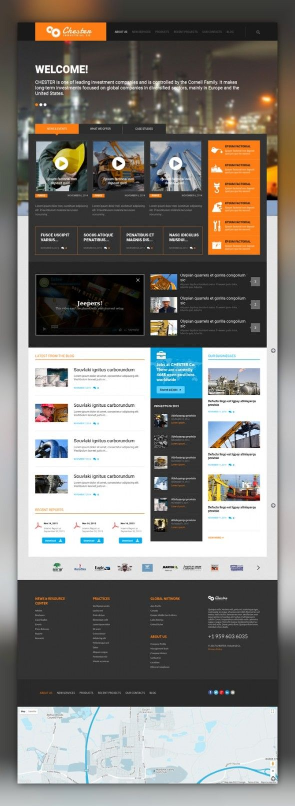 Industrial Company WordPress Theme CMS & Blog Templates, WordPress Themes, Business & Services, Industrial Templates