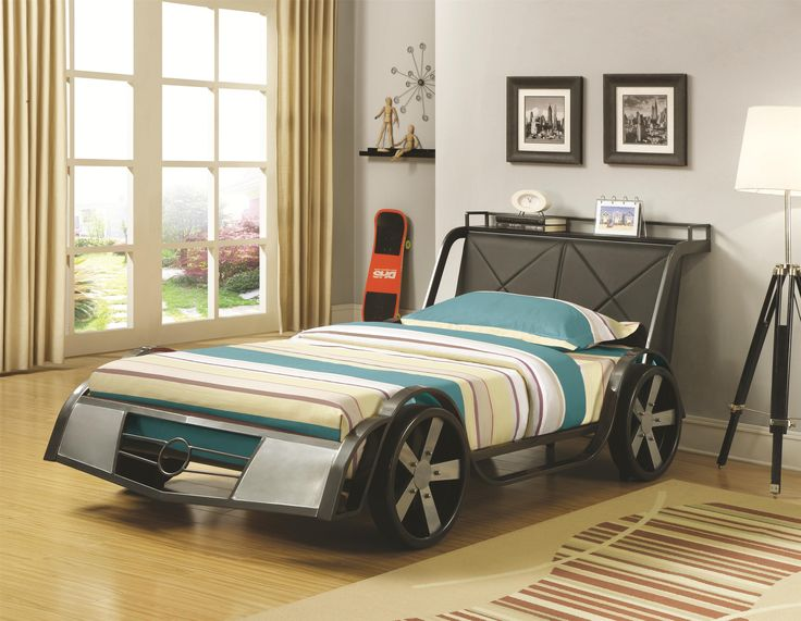 Coaster Novelty Beds Twin-Size Youth Race Car Bed - Dunk & Bright Furniture - Platform or Low Profile Bed Syracuse, Utica, Binghamton