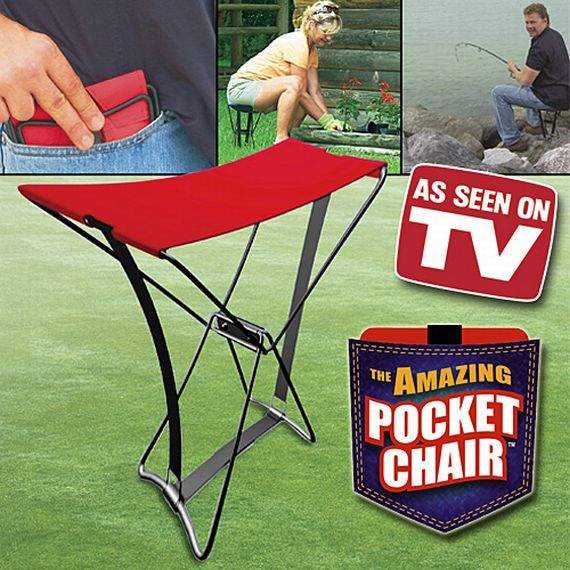 $10 Take A Seat Anywhere With The Pocket Chair  Oh do i need this for work.