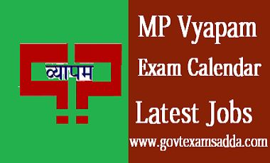 MP VYAPAM Exam Calendar 2018-19, Upcoming Recruitment Jobs Notification, Test Schedules, MPPEB Exam Schedule 2018, MP Vyapam Online Application Form check