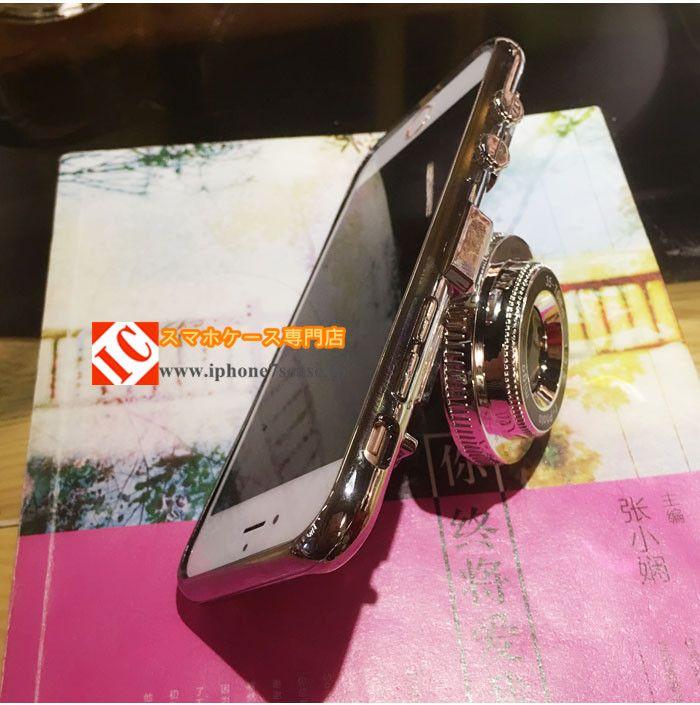 オリジナル面白いカメラ型iphone7s/6sケース個性的キラキラ アイフォン7/6splus