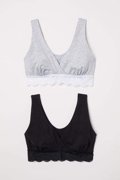 698c37cbca456 H&M MAMA 2-pack Nursing Bras - Gray | Products | Nursing clothes ...