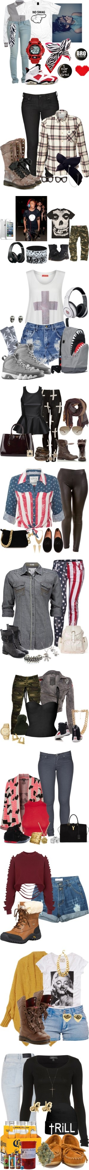 """Trill Year (2013)"" by mrkr-lawson ❤ liked on Polyvore"