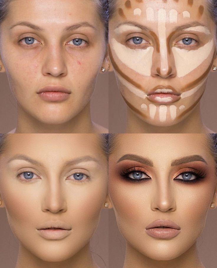 это как правильно наносить макияж в картинках это время