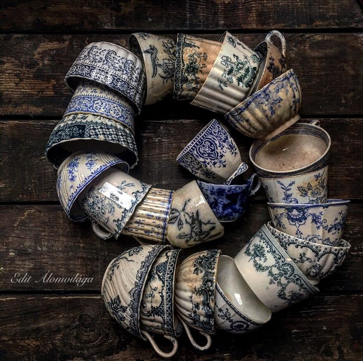 lovely collection of old cups