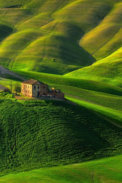 Peaceful narrow roads wind throughout Tuscany ~ all with outstanding natural…