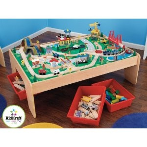 KidKraft 17850 - Tavolo e set Trenino Waterfall Mountain: Amazon.it: Giochi e giocattoli