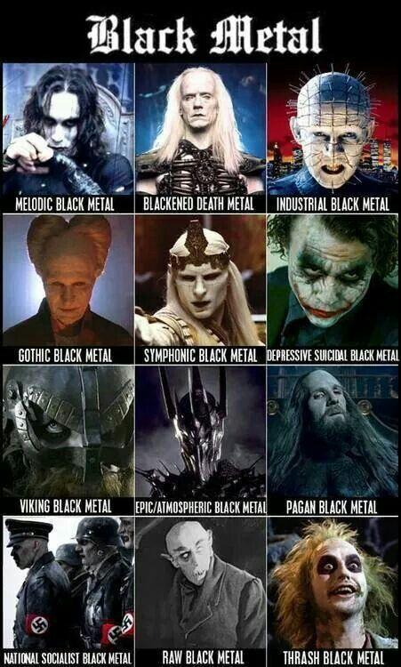 Black Metal characters