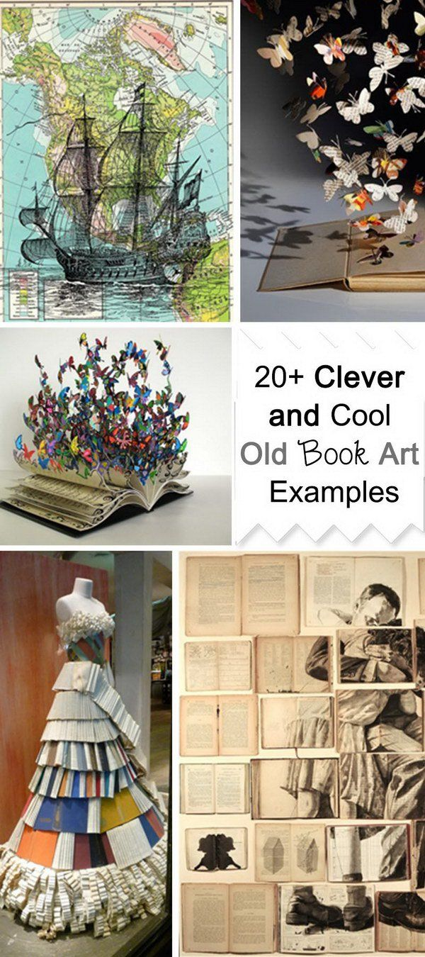 Clever and Cool Old Book Art Examples!