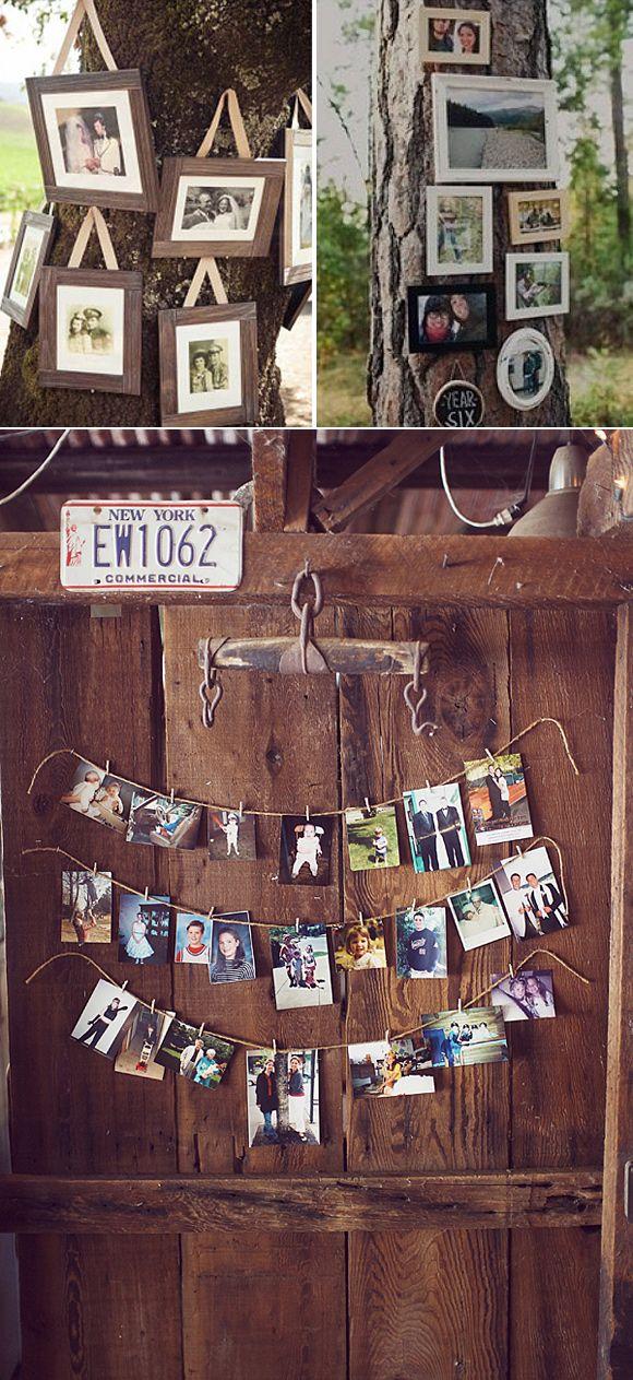 Decora con fotos tu boda – un precioso rincón de recuerdos
