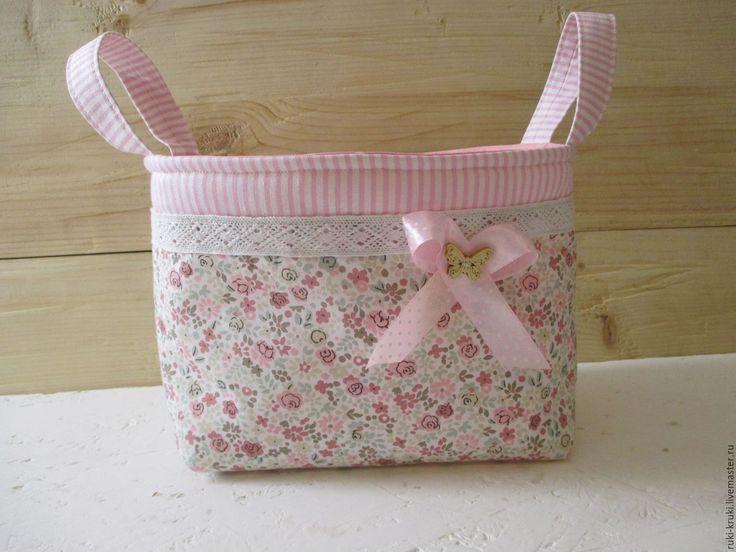 Купить Текстильные корзинки - розовый, Корзина для хранения, корзинка для мелочей, текстильная корзинка, для детской комнаты