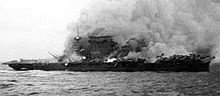 "Pacific War - ""Battle of the Coal Sea"" May 4th-8th The Uss Lexington Explodes after damage by Japanese carrier air attack"