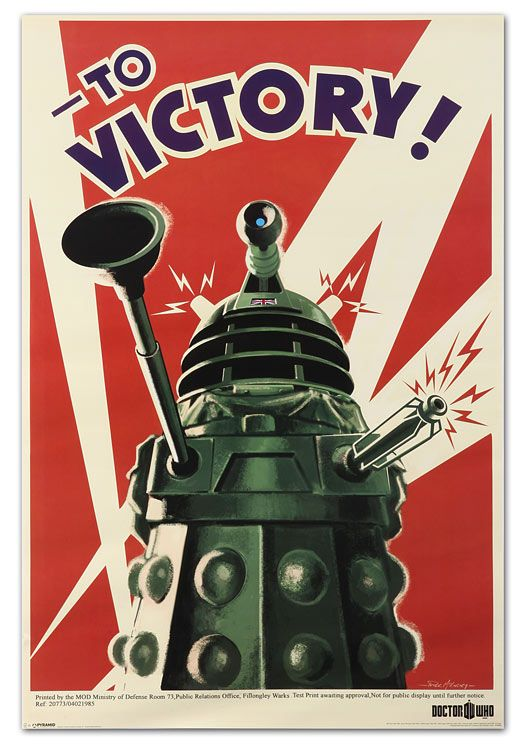 I like old propaganda style posters. Actually, I like old style posters. There's something about them that are absolutely wonderful. And, to add Doctor Who to the mix? Awesome!
