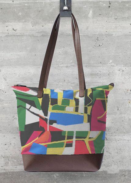 VIDA Foldaway Tote - bstract circles Bag by VIDA 3e1m5Ms