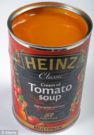 One helping of Heinz tomato soup contains four teaspoons of sugar