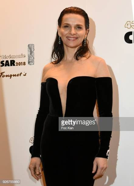 Juliette Binoche arrives at Le Fouquets as part of the Cesar Film... in  2019  1ea23c38c7