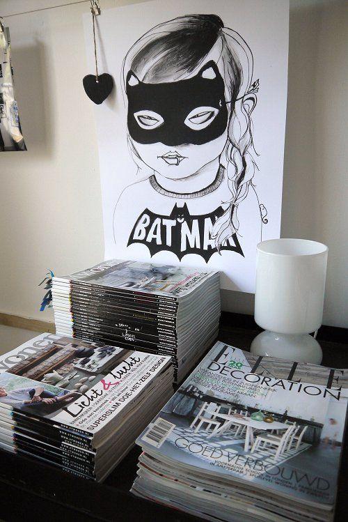 Love this!Batman Girls Wall Art, Minis Dog Qu, Girls Generation, Bats, Illustration, Girls Room, Batgirl Prints, Art Prints, Posters