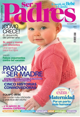 Portada de la revista Ser Padres. Noviembre 2012
