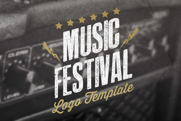 Check out Music Festival Logo Template by Roots Graphic Shop on Creative Market