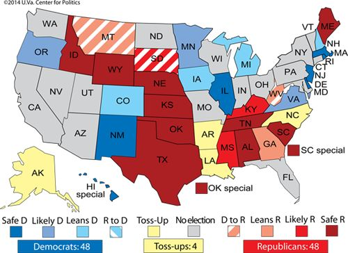 Nationalization of Senate Elections Poses Challenge to Democrats in 2014  May 22nd, 2014 Alan I. Abramowitz, Senior Columnist, Sabato's Crys...