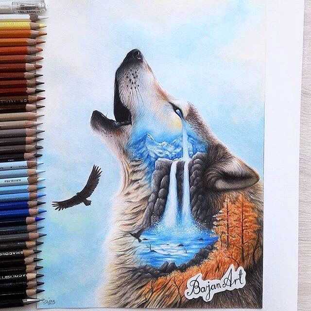 drawing art by Bajan Art