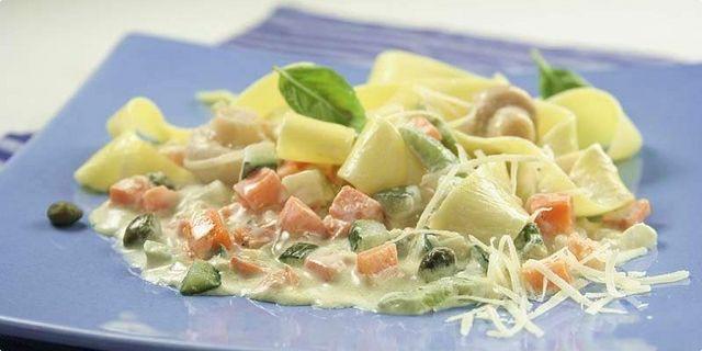 Italské těstoviny se zeleninou. Recepty — Podravka | S Podravkou chutná lépe