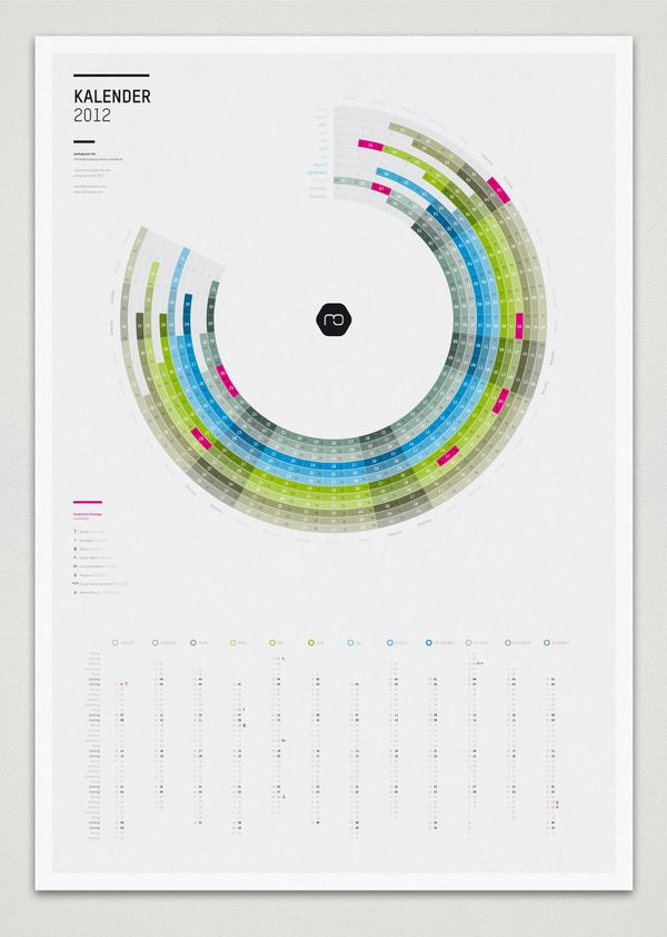Infographic Calendar 2012 by Martin Oberhäuser, via Behance