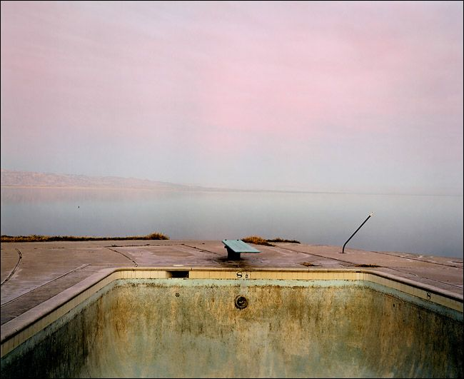 richard misrach -  diving board, saltonsea, 1983