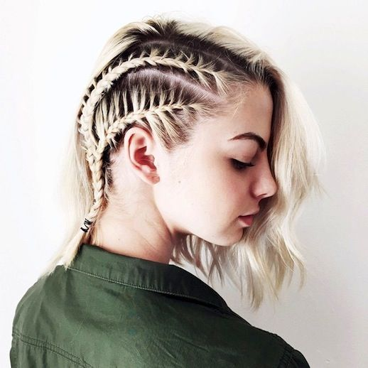 Braided Short Haircuts: