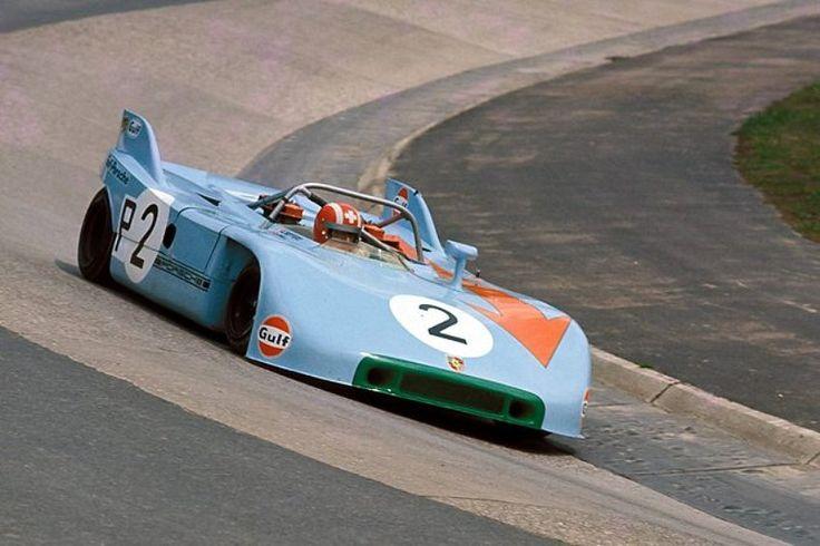 Jo Siffert / Derek Bell - Porsche 908/03 - John Wyer Automotive Gulf Porsche - ADAC 1000 km-Rennen und Formel Super-Vau Rennen Nürburgring - Nürburgring 1000 Kilometres - 1971 International Championship for Makes, round 8 - Challenge Mondial, round 3