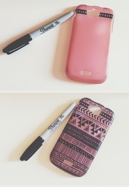 All it takes to upgrade your phone case is a simple sharpie.