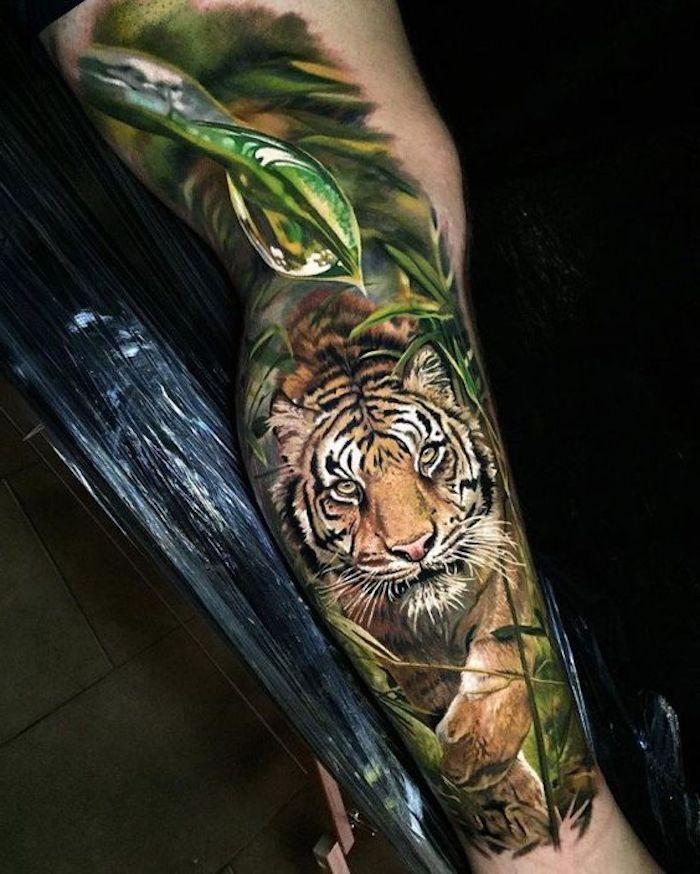 ▷ 1001 ultra coole Tiger Tattoo Ideen zur Inspiration