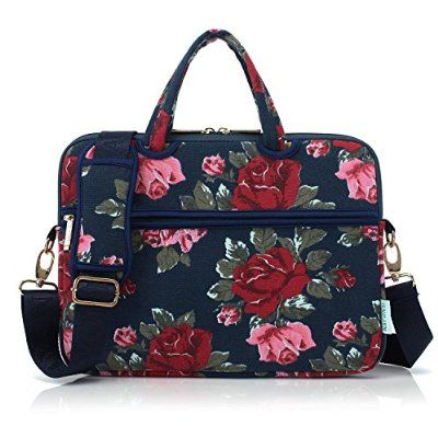 Kayond Canvas Fabric Ultraportable Neoprene Laptop Carrying Case / Shoulder Messenger Bag / Briefcase for Macbook, Acer, Dell, Hp, Sony,ausa,samsung,lenovo, Notebook (15-15.6, Bule Peony)#laptopcases #laptopbags #Laptopsleeves #macbooksleeves #macbookairsleeves #neoprene $23.99