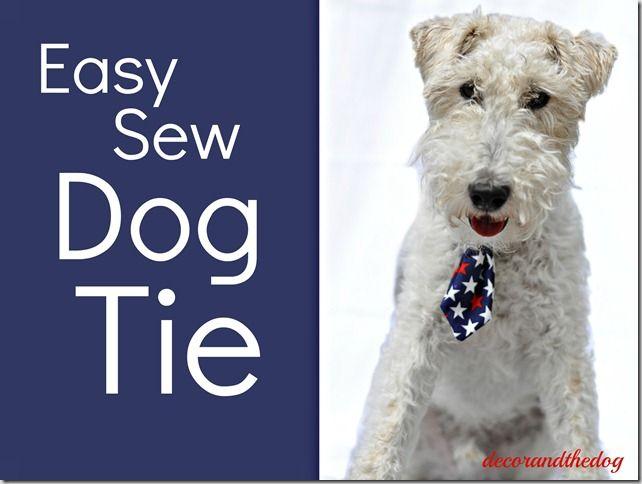 Easy Sew Dog Tie. So Cute