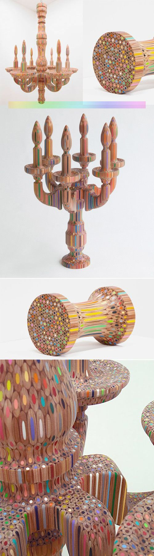 Colored Pencil Sculptures by Takafumi Yagi » Amazing!!